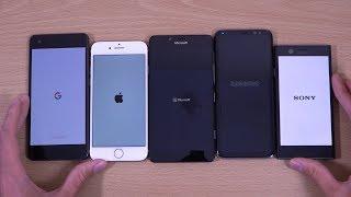 Google Pixel 2 vs iPhone 8 vs Galaxy S8 vs Lumia 950 vs Xperia XZ1 Compact - Speed Test!