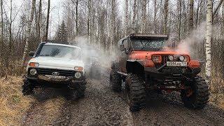 Jeep Wrangler Эвакуировал все сломавшиеся машины из леса