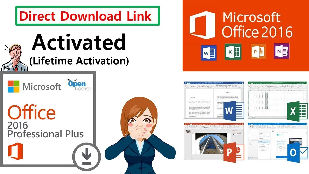 Microsoft Office 2016 Pro Plus (Crack + Activator) | Activated MS Office  2016 | Direct Download Link