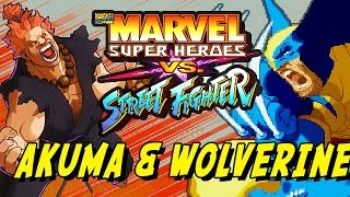 Akuma X Wolverine - Best Friends: Marvel Super Heroes Vs. Street Fighter (Online Matches)