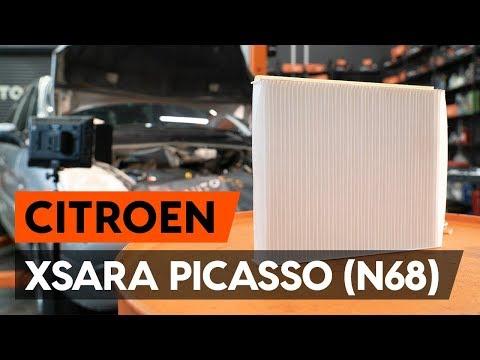 Как заменить салонный фильтр на CITROEN XSARA PICASSO (N68) [ВИДЕОУРОК AUTODOC]