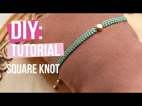 Creación de joyería: Técnica básica nudo corredizo de macramé
