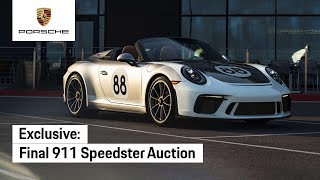 Final Porsche 911 of 7th Generation – Auction for COVID-19 Relief
