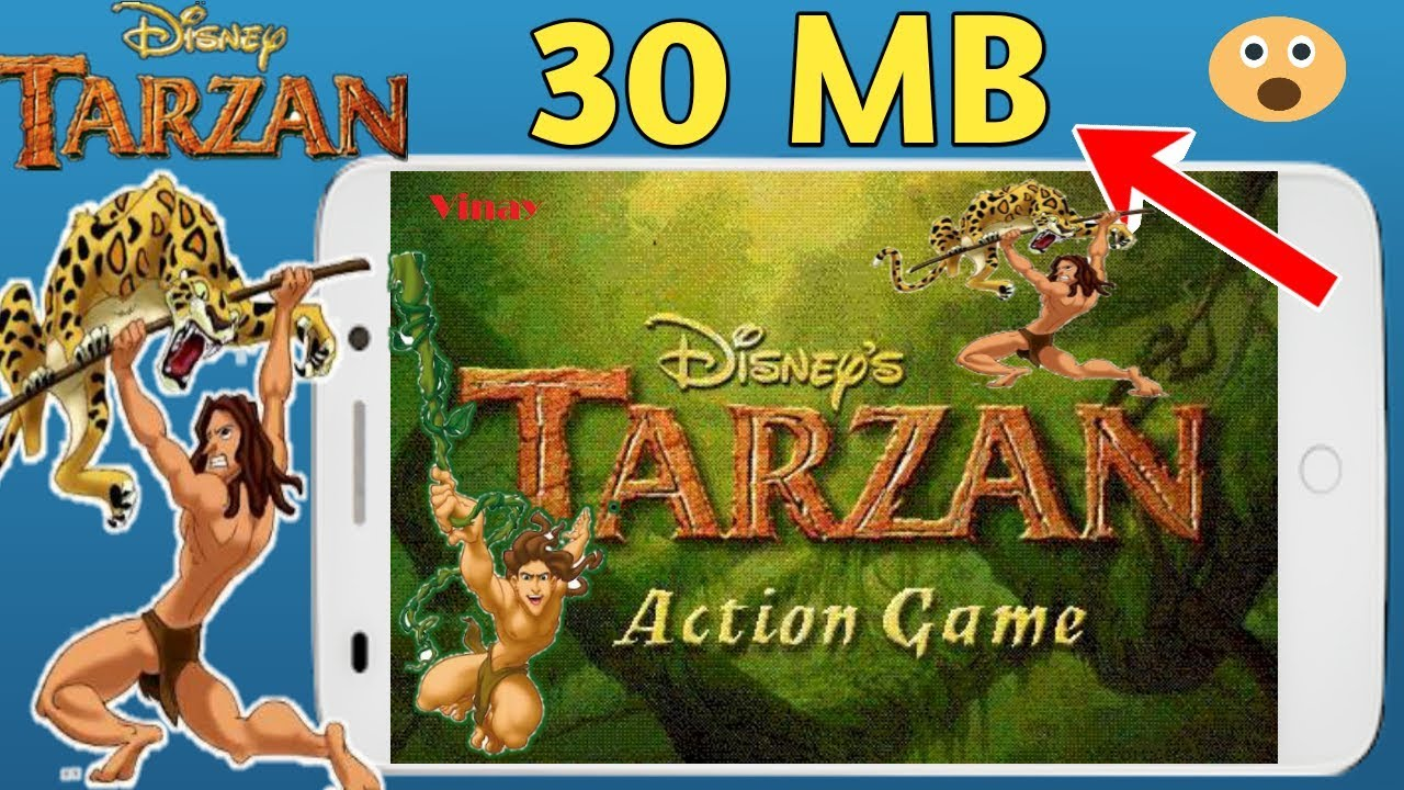 30 MB Disney Tarzan Ps1 Game Highly Compressed Play All Android Phone