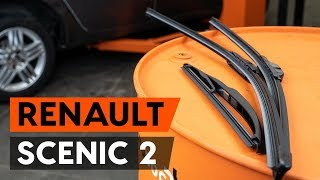 How to change wipers blades / window wipers RENAULT SCENIC 2 (JM) [TUTORIAL AUTODOC]