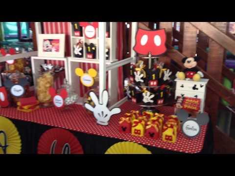 Mesa de dulces Mikey mouse
