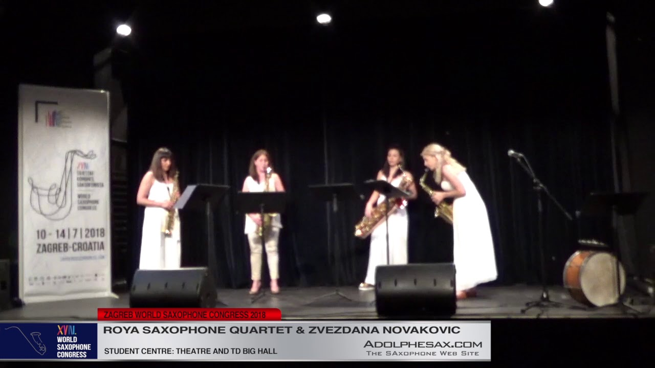 Six Croquis by Boris Papandopulo - Roya Saxophone Quartet #adolphesax