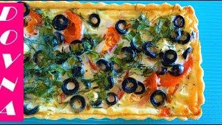 пирог с сыром помидорами и оливками от Dovna Enterprises