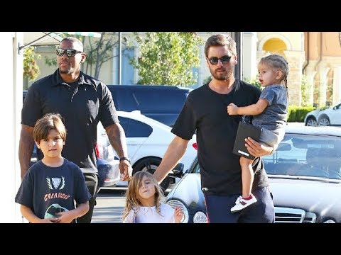 Scott Disick On Daddy Duty While Kourtney Kardashian Vacations With Younes In Paris