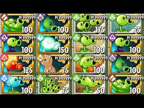 All Pea Level 999999 Power-Up! In Plants Vs Zombies 2
