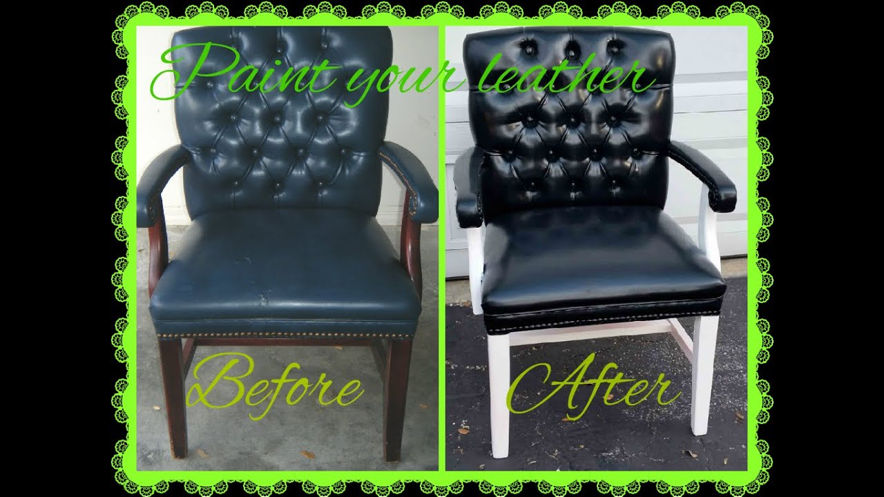 Spray Paint For Leather Sofa Chesterfield Fabric Singapore Color Change And Make The Crack Disappear Youtube