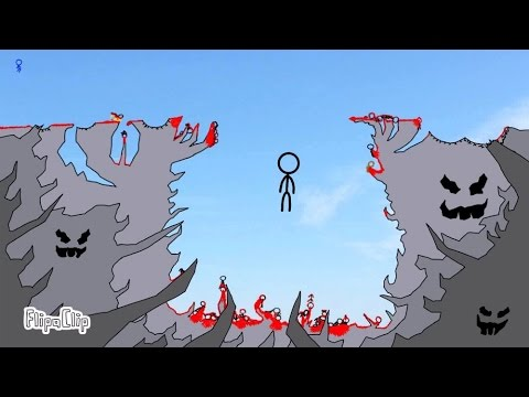 Thumbnail: The Cliff 3 - The Final Showdown (FlipaClip animation 72, stick fight, blood warning!)