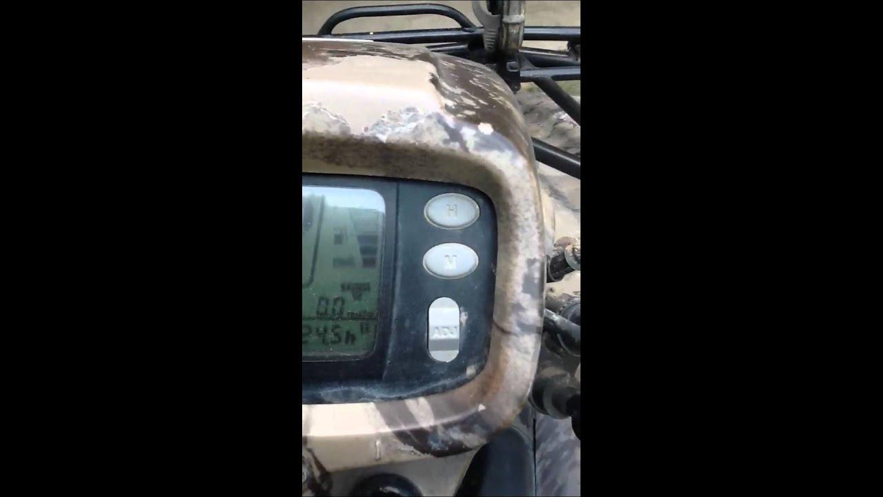 Honda foreman es top speed - YouTube