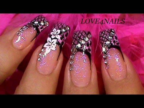 G By Guess Line Inspired Nail Art Design Youtube