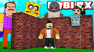 BUILDING AGAINST DENIS ARMY AND MONSTER ATTACKS IN ROBLOX!  Roblox Build To Survive Simulator