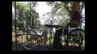 Railroad Wheelchair Swing, Glider On Wheels For Vets