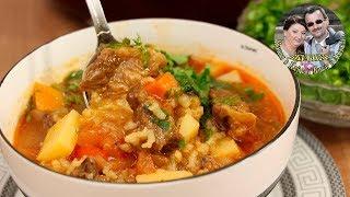 Узбекская кухня. СУП-МАСТАВА. Очень сытно и вкусно. Как плов, только жидкий. От Кухня в Кайф.
