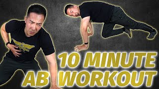 10 Minute Ab Workout At Home | Intermediate Level Six Pack Exercises (No Equipment)
