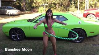 FARM GIRL, her challenger RT Plus, hula hoop and pink heels!