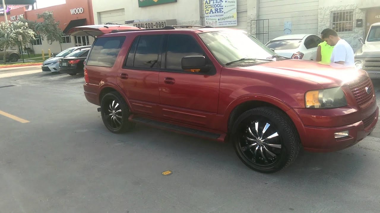 """Ford Explorer Black Rims >> DUBSandTIRES.com 22"""" Inch Helo HE875 Black w/ Chrome inserts 2004 Ford Expedition Review Rims ..."""