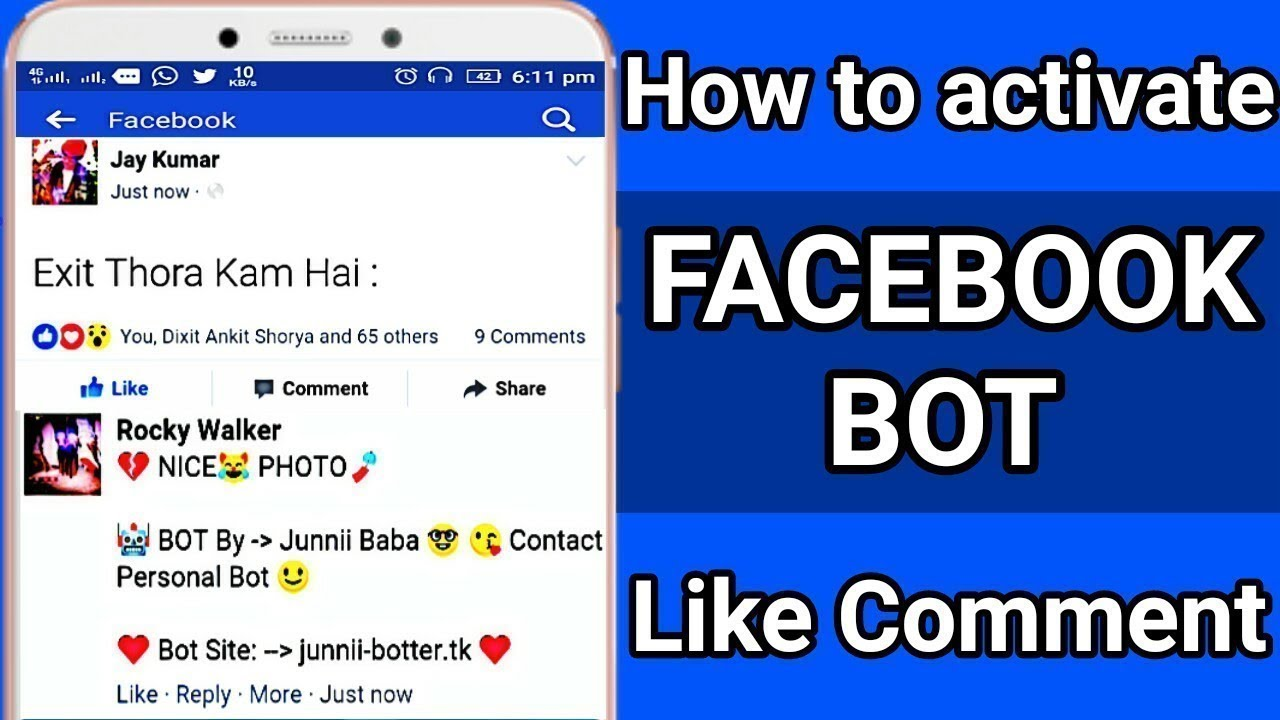 How To Active Facebook Bot For 3 Days Facebook Bot Like React Comment Bot Site 2018