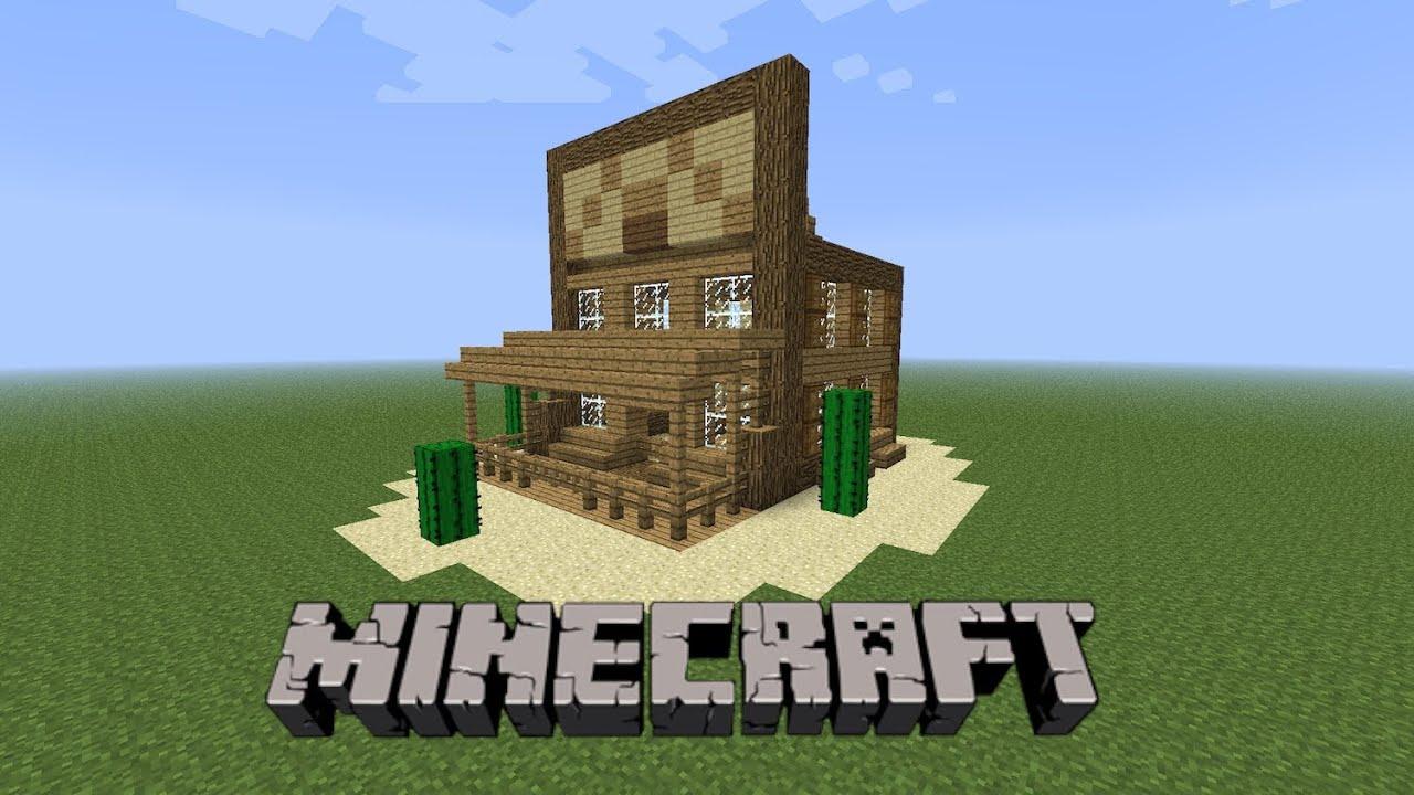 Minecraft construire une maison de western 01 youtube - Video maison minecraft ...