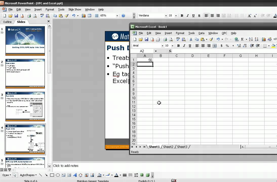 Getting Plant data into Excel using OPC and DDE