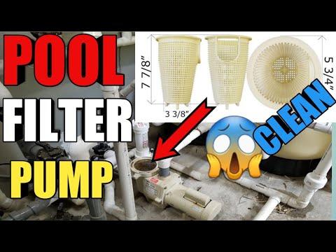 How To Clean Pool Pump Filter Basket!!!step-by-step