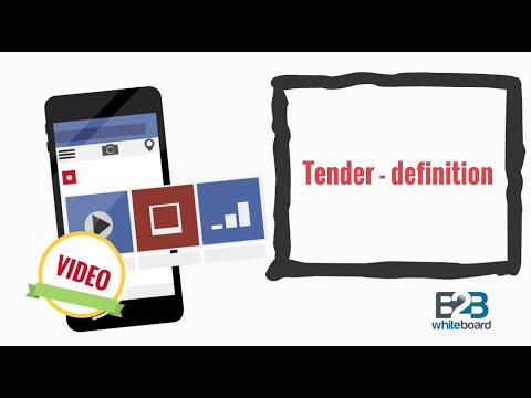 Tender - definition