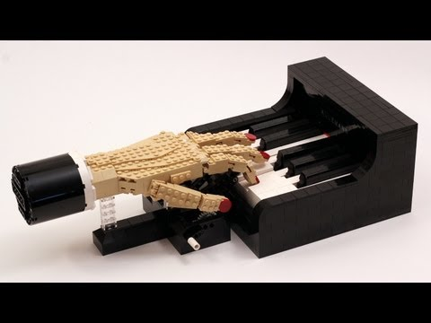 The Pianist - LEGO Piano Player Kinetic Sculpture