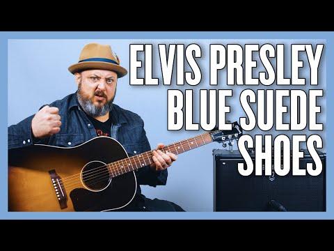 Elvis Presley Blue Suede Shoes Guitar Lesson + Tutorial