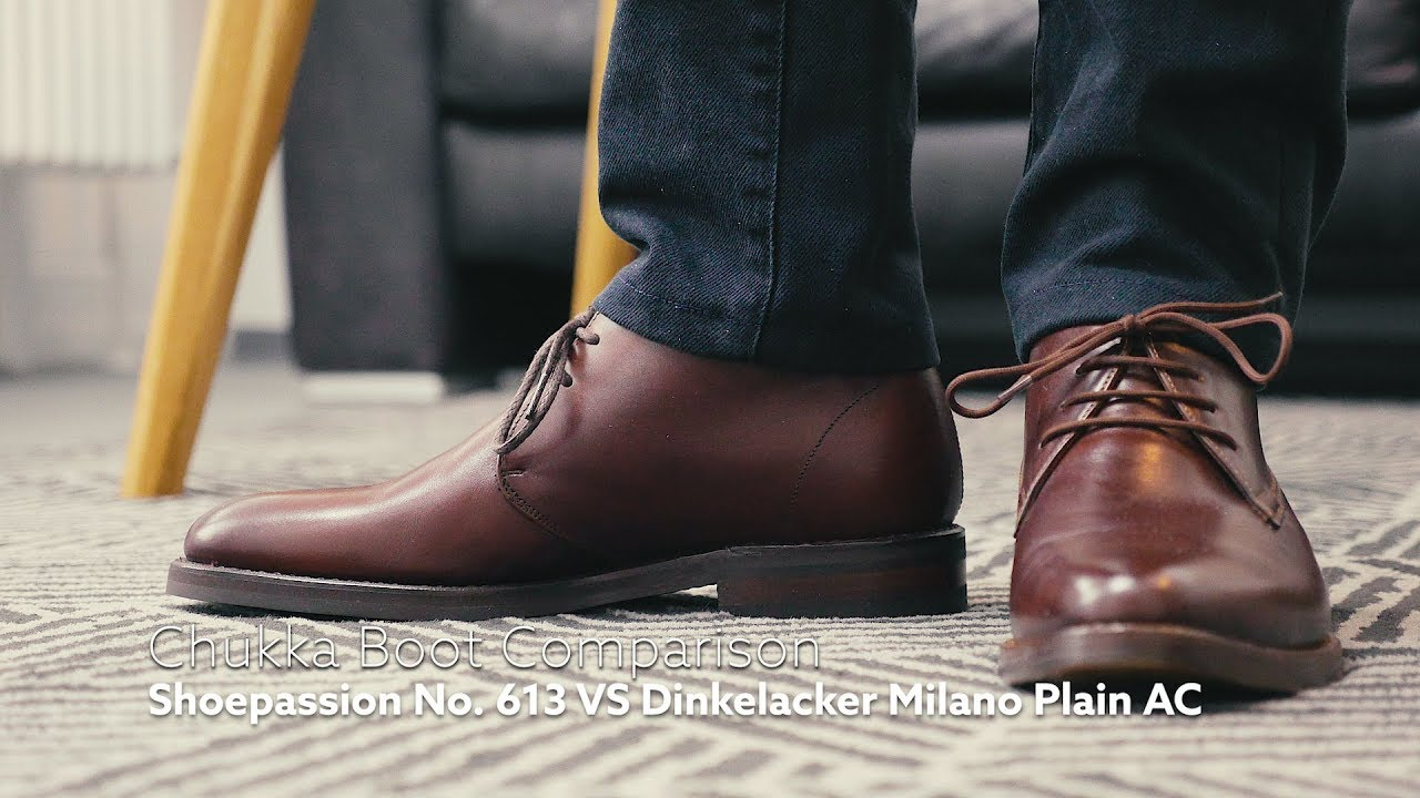 release date 1db82 1e86b COMPARISON // Shoepassion No. 613 VS Dinkelacker Milano Plain AC Chukka  Boots