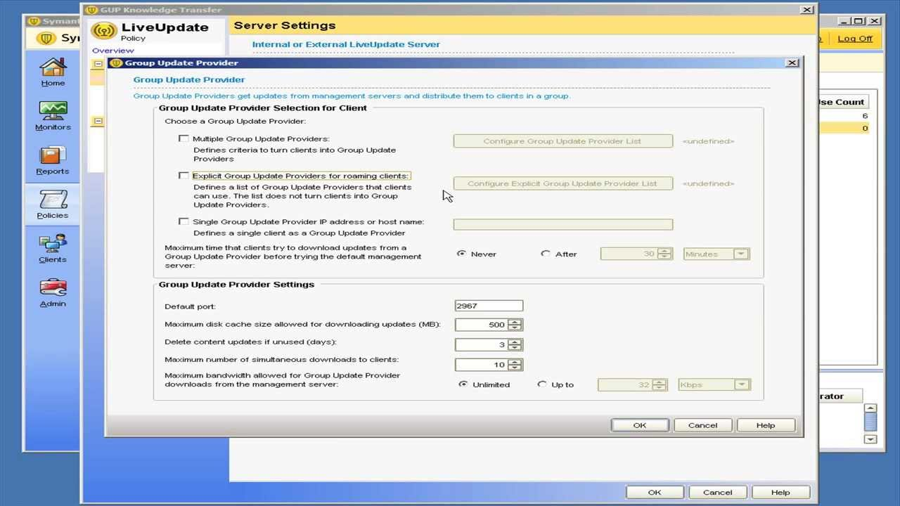 Symantec endpoint protection manually updating definitions.