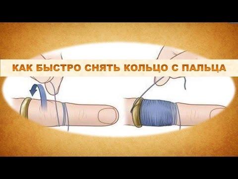 Как снять кольцо с пальца. Полезное видео.