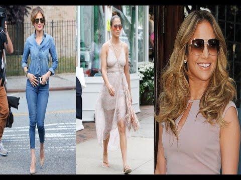 Jennifer Lopez Casual Style &  Hairstyle - 2016