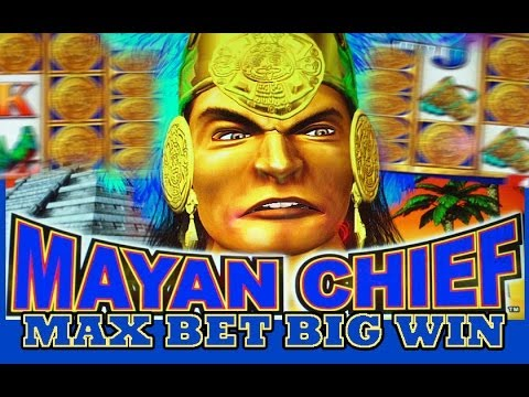 Mayan Chief - MAX BET! - Slot Machine Bonus - BIG WIN! - 동영상