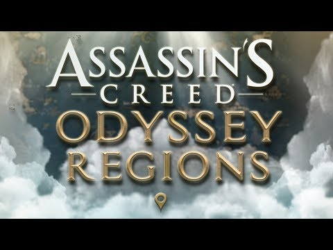 Assassin's creed: ODYSSEY ALL LOCATIONS -  REGIONS Detailed MAP thumbnail
