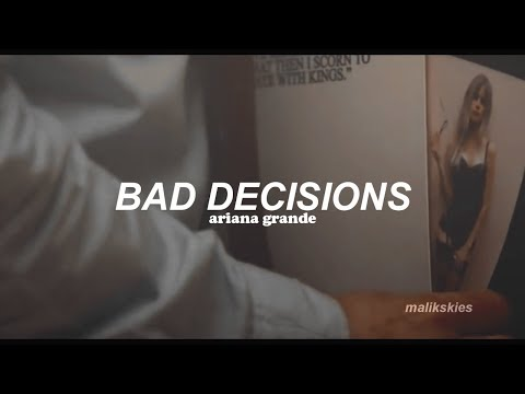 Ariana Grande - Bad Decisions (Traducida al español)