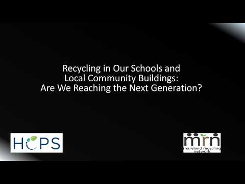 Recycling in Our Schools and Local Community Buildings: Are We Reaching the Next Generation?