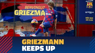  Watch Online Antoine Griezmann touches the ball for the first time at Camp Nou