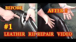 LEATHER RIP REPAIR #1 VIDEO ***** FixYourLeather.com