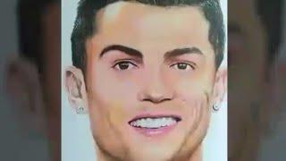 Drawing of CristianoRonaldo (portrait art with Mixmedia)