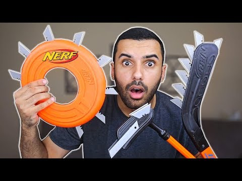 MOST DANGEROUS TOY OF ALL TIME!! (EXTREME NERF SPORTS EDITION!!)
