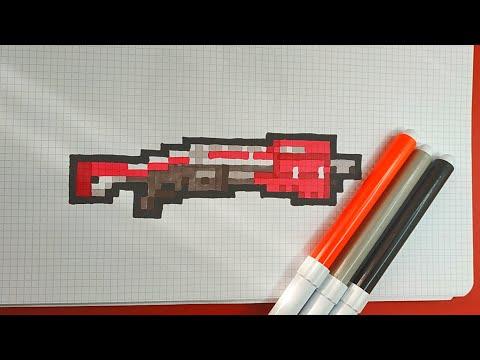 Como Dibujar la ESCOPETA TACTICA de FORTNITE   Pixel Art Tutorial thumbnail