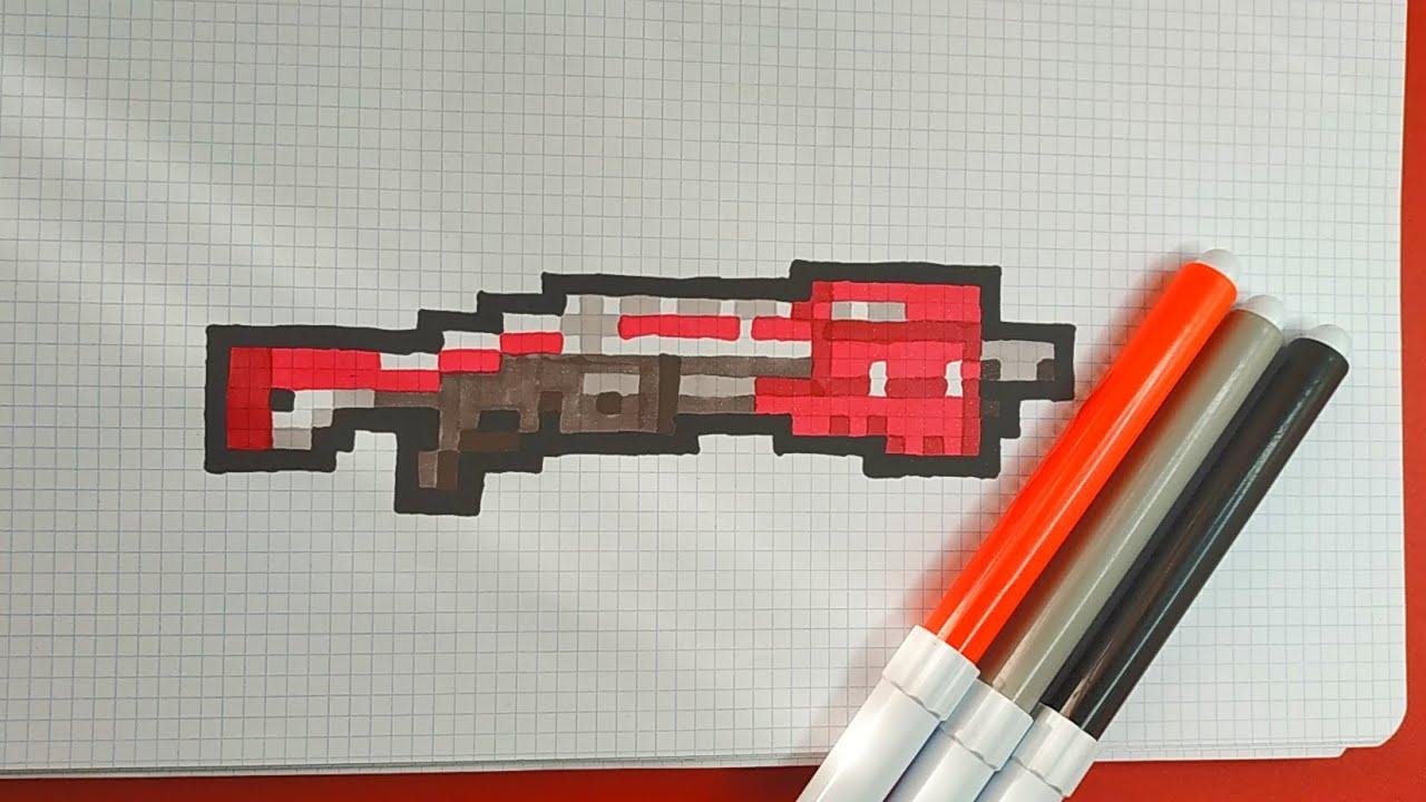 How To Draw Tactical Shotgun Fortnite Pixel Art Tutorial