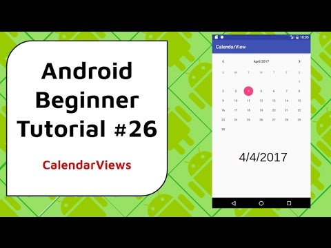 Android Beginner Tutorial #26 -CalendarView [Getting the Date and
