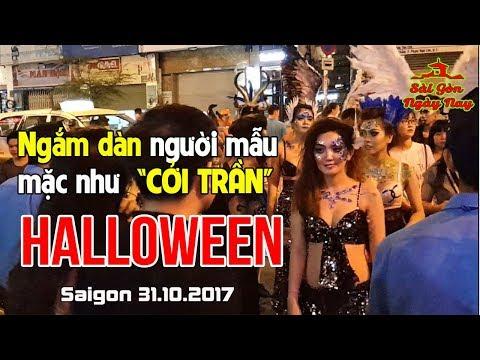"""Ngắm dàn người mẫu xinh đẹp mặc như """"CỞI TRẦN"""" đêm Halloween 2017 tại Sài Gòn"""