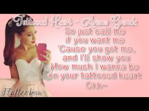Ariana Grande   Tattooed Heart Album Version) [Lyrics]