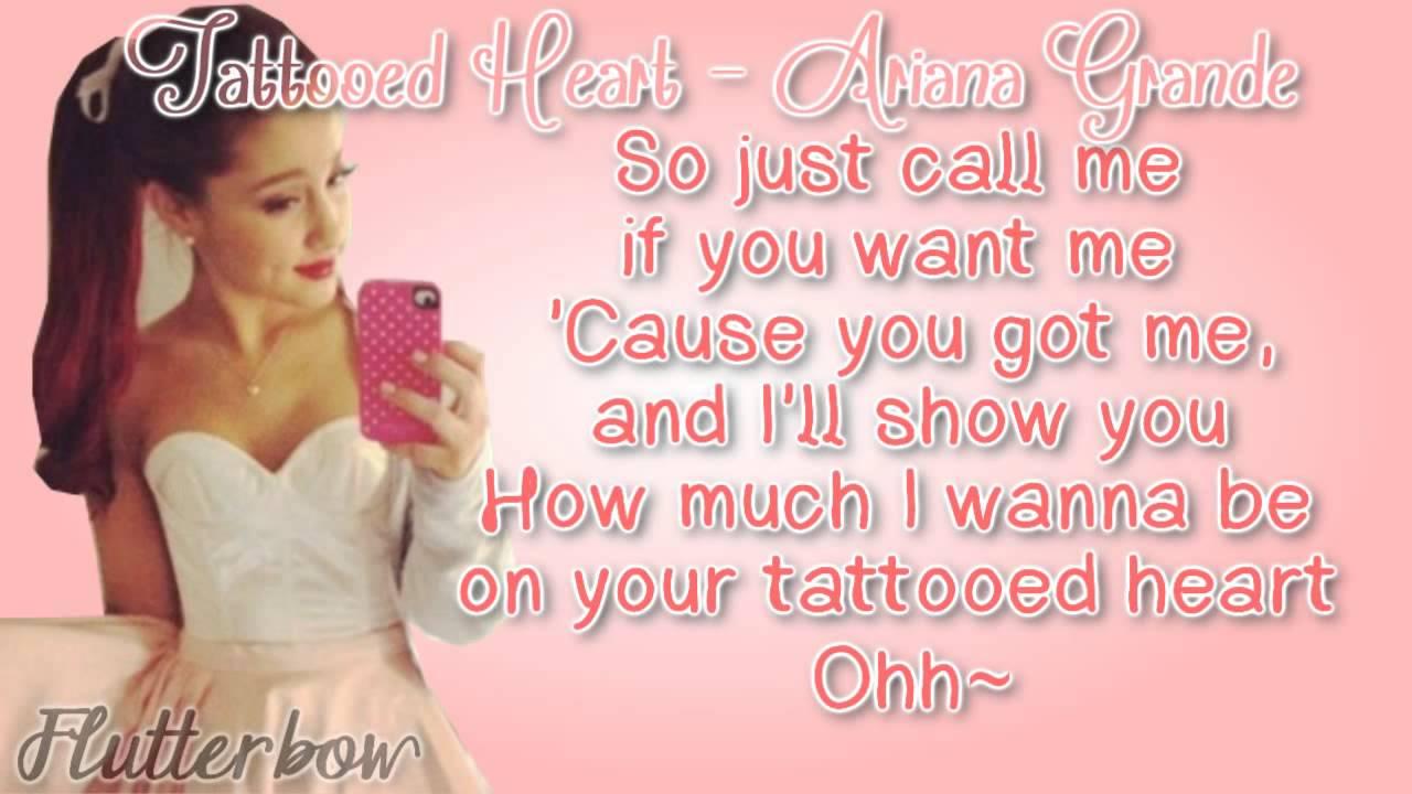 Ariana grande tattooed heart album version lyrics youtube for Tattooed heart ariana grande