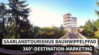 360°-Destination-Marketing: Saarlandtourismus Baumwipfelpfad 360° Destination Marketing